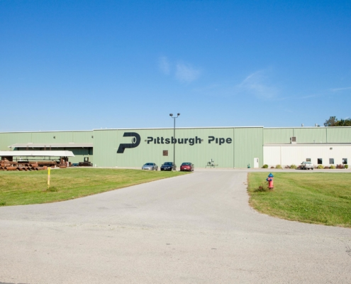 Back view of large pittsburgh pipe warehouse